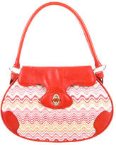 Missoni Embossed Leather-Accented Shoulder Bag