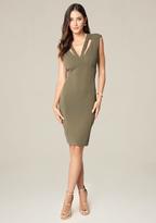 Bebe Priscilla Crepe Dress
