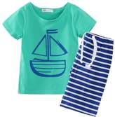 Little Spring LittleSpring Little Boys' Clothing Short Sets Striped Size 4T US