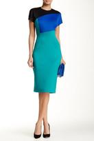 Alexia Admor Colorblock Short Sleeve Sheath Dress