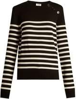 Saint Laurent Breton-striped wool sweater