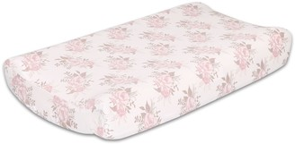 The Peanut Shell The Grace Floral Changing Pad Cover