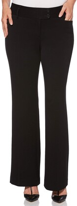 Rafaella Women's Curvy Fit Short Length Gaberdine Trouser Black 16