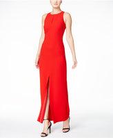 Calvin Klein Keyhole Crepe Gown