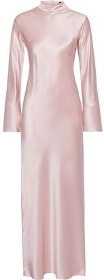 Michael Lo Sordo Gio Silk-satin Turtleneck Maxi Dress