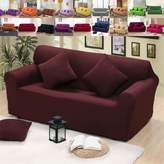 LINGJUN Elastic Sofa Solid Color Full cover Anti-skid Protector Couch Cover Armchair Slipcover Home Decor Stretch Sofa Cover Removable