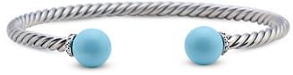 David Yurman Solari Bracelet With Diamonds And Turquoise