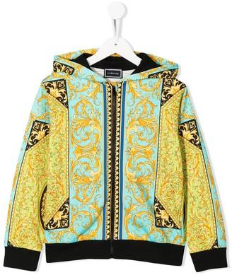 Versace Patchwork Baroque Print Hoodie