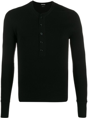 Tom Ford button-down long-sleeve T-shirt