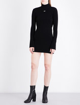 Off-White Logo-print knitted jersey dress