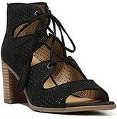 Franco Sarto HonoluluLace Up Tassel Block Heel Dress Sandals