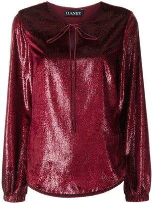 HANEY Meggie long-sleeve blouse