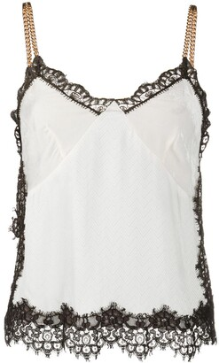 Pinko Lace-Trimmed Camisole