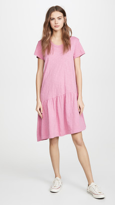 Wilt Drop Torso Slant Hem Dress