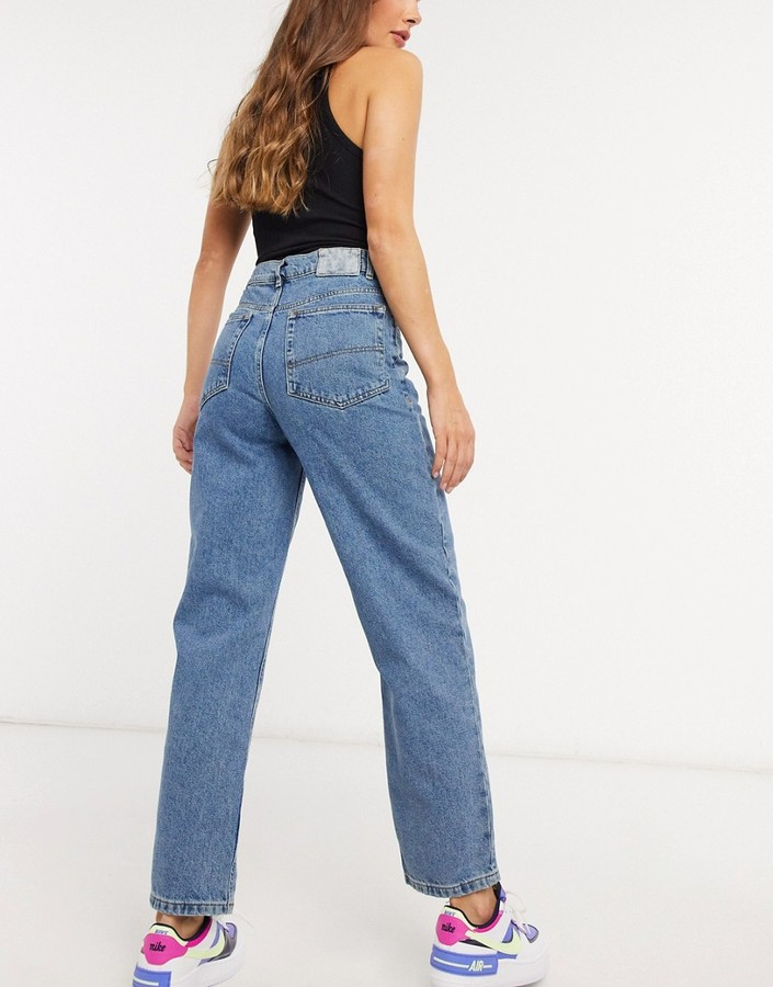 Thumbnail for your product : Collusion x014 dad jeans with stepped waistband in vintage wash