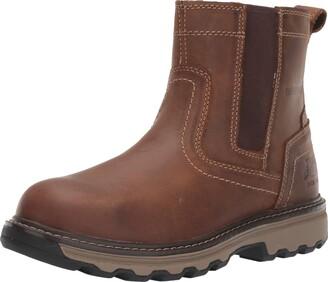 Caterpillar Men's Pelton Steel Toe Construction Boot Dark Beige 7.5 W US