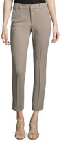 Ralph Lauren Heidi Slim-Leg Cropped Pants, Taupe
