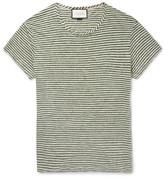 Gucci Slim-fit Striped Linen T-shirt