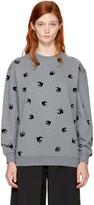 McQ Grey Micro Swallow Sweatshirt