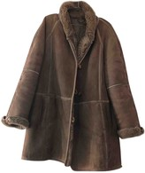 BEIGE Shearling Leather Coats