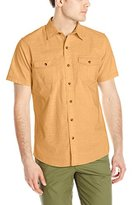 G.H. Bass Men's Short Sleeve Solid Pigment Dyed Shirt