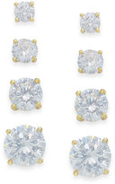 Giani Bernini Cubic Zirconia Stud Set in 18k Gold over Sterling Silver