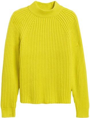 Banana Republic Petite Chunky High Crew-Neck Sweater