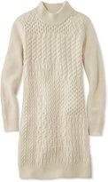 L.L. Bean Signature Patchwork Fisherman Sweater Dress