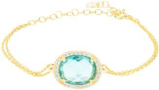 Latelita Beatrice Oval Gemstone Bracelet Gold Blue Topaz Hydro