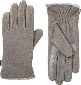Isotoner Women's Fleece Touchscreen Gloves with Water Repellent Technology