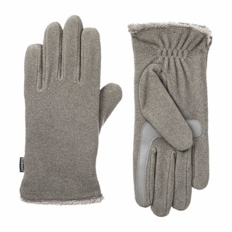 Isotoner Womens Stretch Fleece Touchscreen Texting Cold Weather Gloves with Warm Soft Lining Smartdri Heather Grey One Size