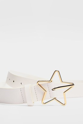 Nasty Gal Womens Give It a Kick Star-t Faux Leather Belt - Black - ONE SIZE, Black