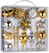 Kurt Adler 36pc Gold and Silver Mini Shatterproof Ornament Set