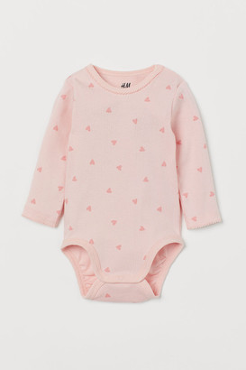 H&M Long-sleeved Bodysuit - Pink
