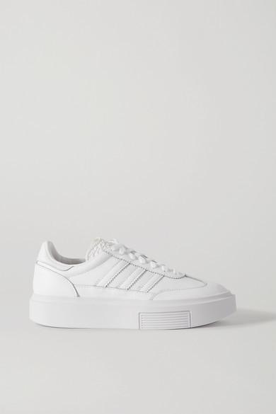 adidas Sleek Super 72 Leather Platform Sneakers - White