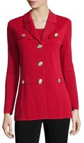 Misook Dressed Up Button-Front Jacket, Petite