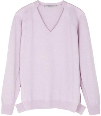 Stella McCartney Lilac Cashmere And Wool-blend Jumper