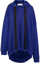 Marques Almeida Marques' Almeida - Oversized Cotton-blend Jersey Hooded Sweatshirt - Bright blue