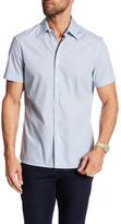 Perry Ellis Checker Board Print Short Sleeve Regular Fit Shirt