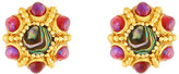 Jose & Maria Barrera Beaded Button Clip Earrings