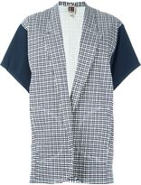 I'M Isola Marras kimono sleeve checked blazer - women - Cotton/Polyamide/Spandex/Elastane - 40