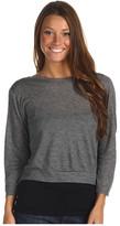 Radcliffe Denim - Back Cowl 3/4 Sweatshirt