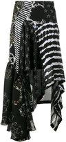 Preen by Thornton Bregazzi multi-print asymmetric skirt - women - Silk/Polyester/Spandex/Elastane - M