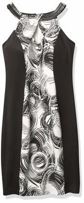 Jax Women's Embellished Halter Neck Swirl Print Sheath
