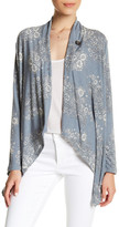 Bobeau Floral Print One Button Cardigan (Petite)