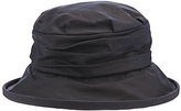 Olney Annabelle Waxed Cotton Ruched Rain Hat, Navy