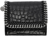 Stella McCartney Black Croc Small Falabella Flap Wallet