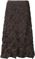 Issey Miyake Pre Owned 1990's textured A-line skirt