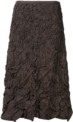 Issey Miyake Pre-Owned 1990's textured A-line skirt