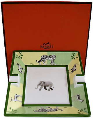 One Kings Lane Vintage Hermes African Animals Cigar Ashtray - The Montecito Collection
